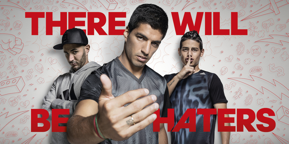 Adidas New Advert – There Will Be Haters feat. Suárez, Bale, James and Benzema